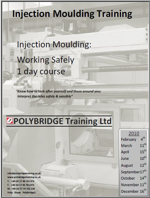 Injection Moulding: Working Safely: 1 Day Course